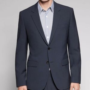 THEORY XYLO TAYLOR WOOL JACKET BLAZER DEEP NAVY